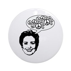 Hillary 2008 for peace Ornament (Round)