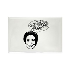 Hillary 2008 for peace Rectangle Magnet (100 pack)