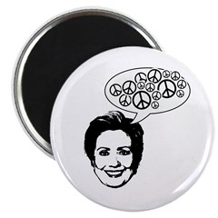 """Hillary 2008 for peace 2.25"""" Magnet (10 pack)"""