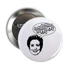 "Hillary 2008 for peace 2.25"" Button"