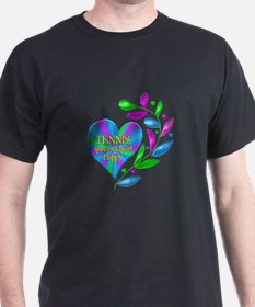 Tennis Happy Heart T-Shirt
