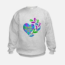 Tennis Happy Heart Sweatshirt