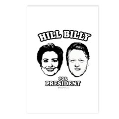 Hill Billy for President Postcards (Package of 8)