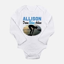 PERSONALIZE SWIMMER Long Sleeve Infant Bodysuit