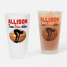 PERSONALIZE SWIMMER Drinking Glass