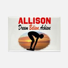 PERSONALIZE SWIMMER Rectangle Magnet