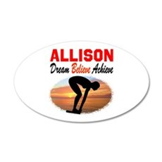 PERSONALIZE SWIMMER Wall Decal