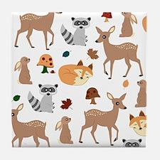 Woodland Creatures Tile Coaster