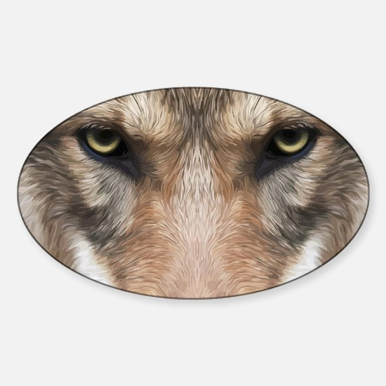 Realistic Wolf Painting Decal