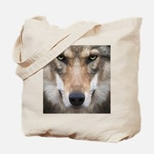 Realistic Wolf Painting Tote Bag
