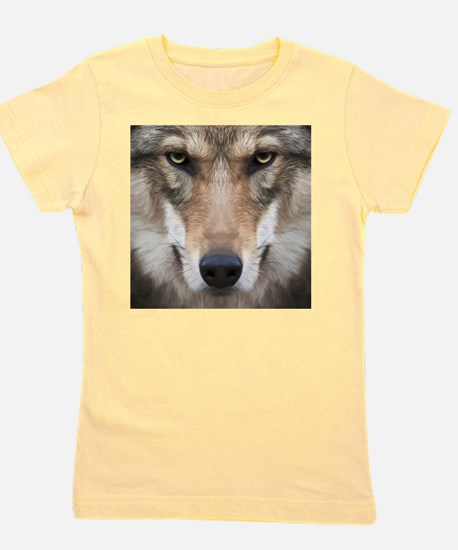 Realistic Wolf Painting Girl's Tee