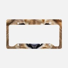 Realistic Lion Painting License Plate Holder