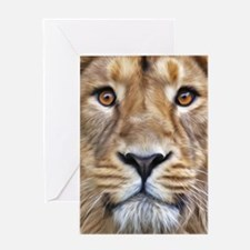 Realistic Lion Painting Greeting Cards