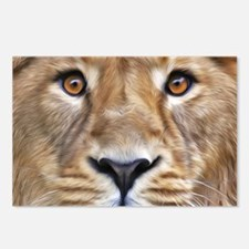 Realistic Lion Painting Postcards (Package of 8)