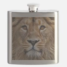 Realistic Lion Painting Flask