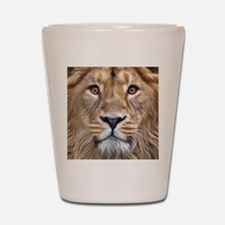 Realistic Lion Painting Shot Glass