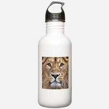 Realistic Lion Painting Water Bottle