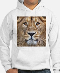 Realistic Lion Painting Hoodie
