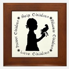 Protect Children Rights Framed Tile