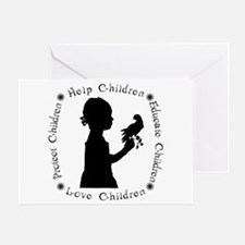 Protect Children Rights Greeting Card