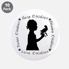 """Protect Children Rights 3.5"""" Button (10 pack)"""