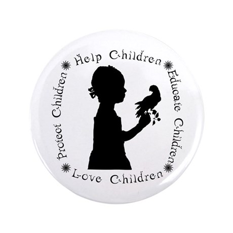 """Protect Children Rights 3.5"""" Button"""