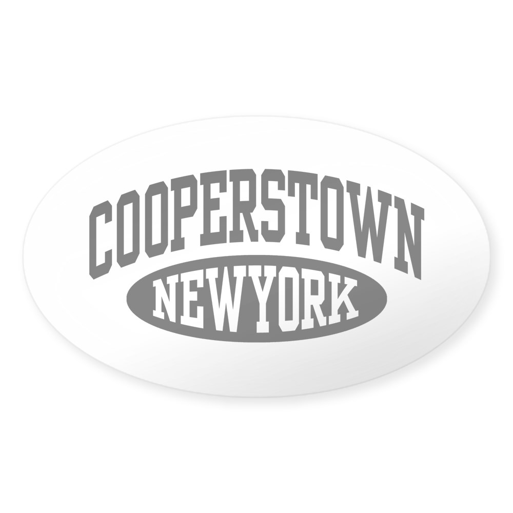 Oval CafePress Cooperstown New York Sticker 1794547642