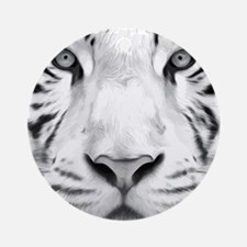 Realistic Tiger Painting Round Ornament