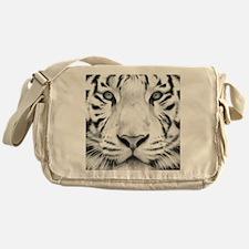 Realistic Tiger Painting Messenger Bag