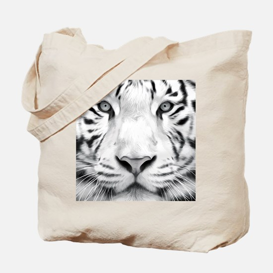 Realistic Tiger Painting Tote Bag