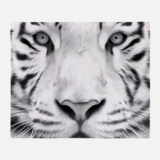 Realistic Tiger Painting Throw Blanket