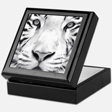 Realistic Tiger Painting Keepsake Box