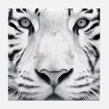 Realistic Tiger Painting Tile Coaster