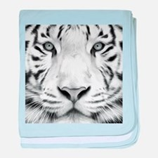 Realistic Tiger Painting baby blanket