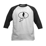 Thinking of Party Girl Kids Baseball Jersey