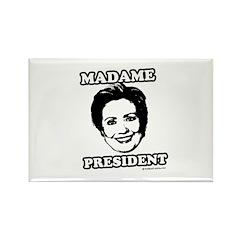 Hillary 2008: Madame President Rectangle Magnet