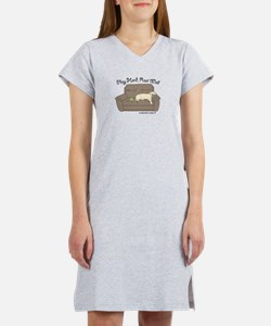 Cute Schnauzer poodle Women's Nightshirt