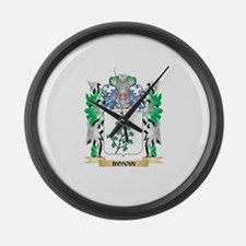 Ronan Coat of Arms - Family Crest Large Wall Clock