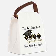Graduate Black 2017 Canvas Lunch Bag