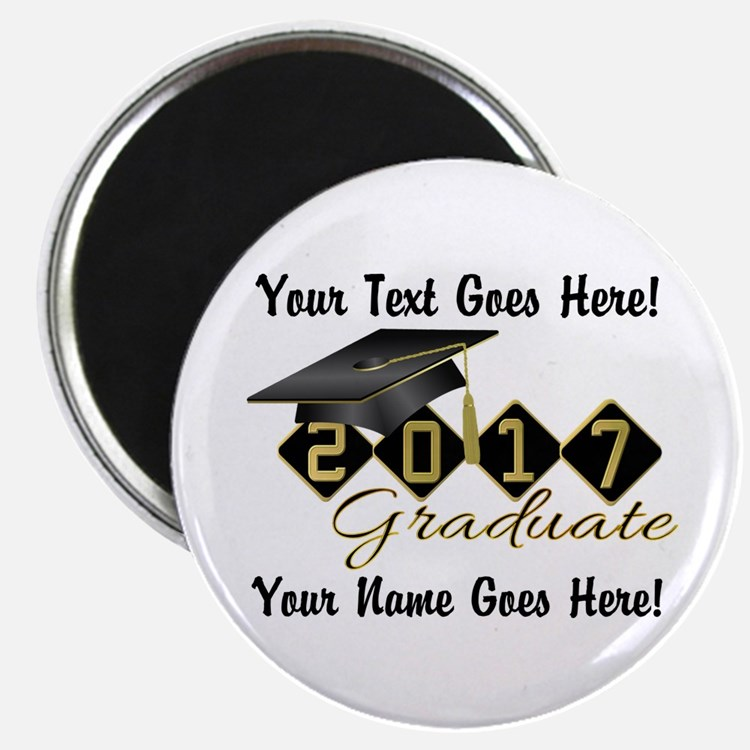 "Graduate Black 2017 2.25"" Magnet (10 pack)"
