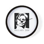 Hillary 2008 Wall Clock