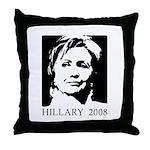 Hillary 2008 Throw Pillow