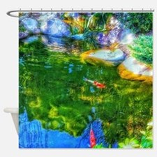 Glowing Reflecting Pond Shower Curtain