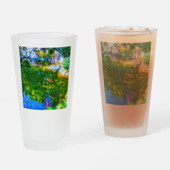 Glowing Reflecting Pond Drinking Glass