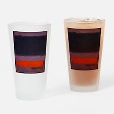 ROTHKO PURPLE AND ORANGE Drinking Glass