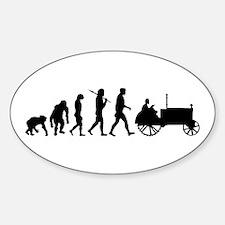 Farmers Evolution Sticker (Oval)