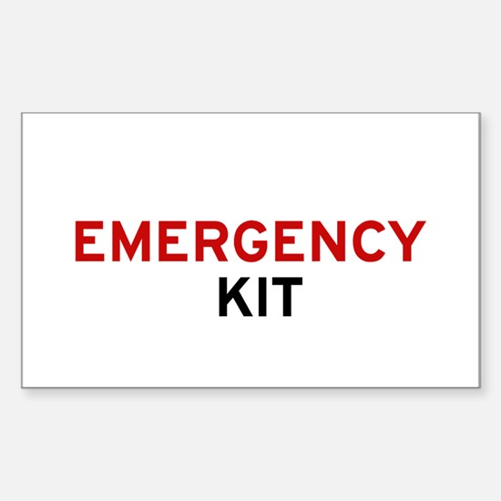 Emergency Kit Sticker (rectangle)
