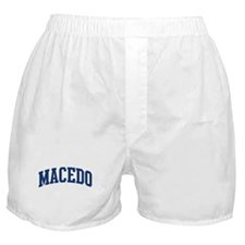 MACEDO design (blue) Boxer Shorts