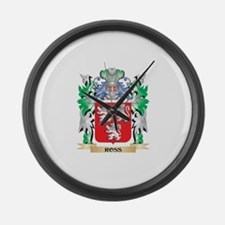 Ross Coat of Arms - Family Crest Large Wall Clock