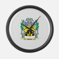 Ross- Coat of Arms - Family Crest Large Wall Clock